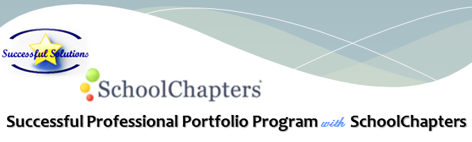 Successful Professional Portfolio Program with SchoolChapters.